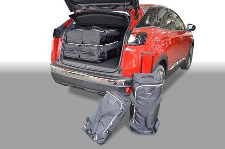 Car-Bags | Peugeot 3008 II | vanaf 2016 | Laadvloer in hoogste stand | Auto reistassen