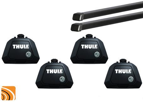 Thule Evo Raised Rail dakdragerset | Voetenset 7104 voor auto's met dakrailing