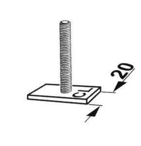 T-stuk 20mm met schroefdraad